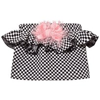 BANG BANG Copenhagen Black/White Check True Tracy Bow Skirt Black and White