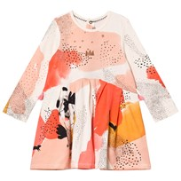 Catimini Cream and Pink Glitter Detail Floral Dress 12