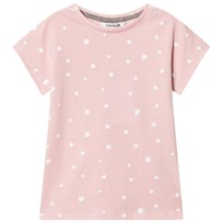 One We Like Pop Short Sleeve T-Shirt Dots Lotus Pink