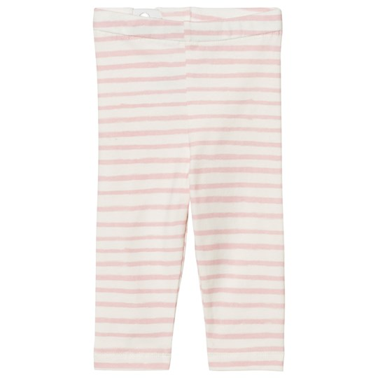One We Like Stripe Baby Leggings Pristine White Pink