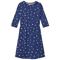 One We Like Pop Dress Ls Dots Aop Blue Blue