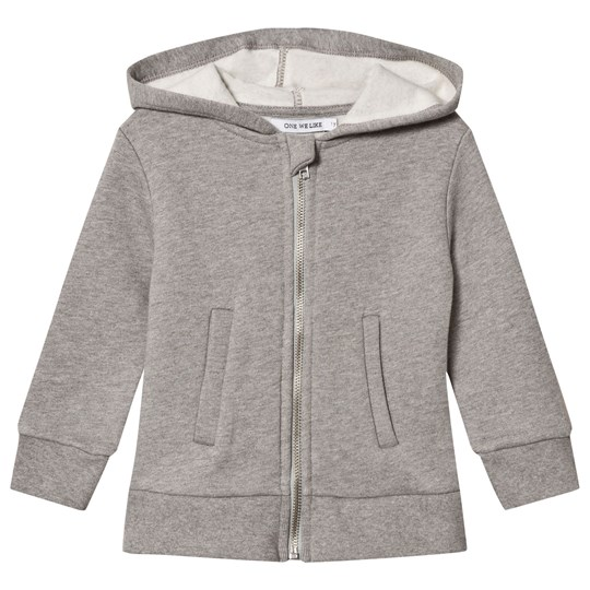 One We Like Gitarr Hoodie Grey Melange Sort