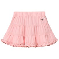 Le Chic Pink Tiered Ruffle Skirt 215