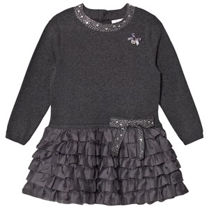 Image of Le Chic Grey Ruffle Dress 164 (13-14 years) (774479)