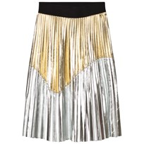 Relish Gold and Silver Pleated Skirt