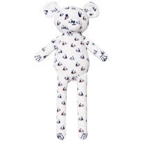 Petit Bateau Sailboat Print Teddy Bear White