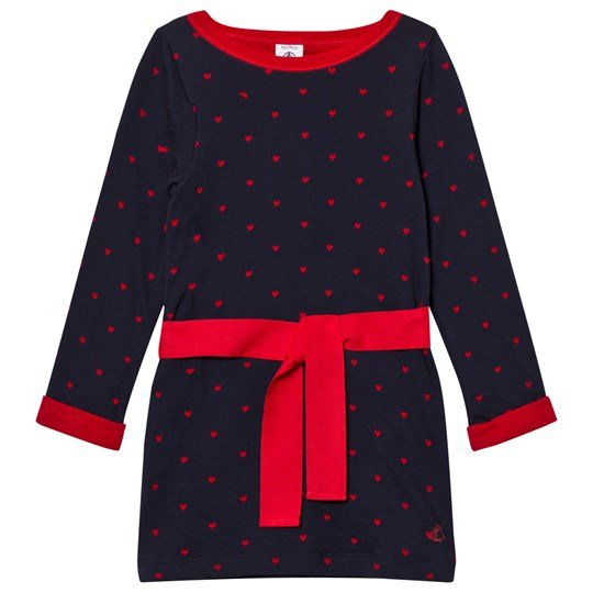 Petit Bateau Dress Marine Red Blue
