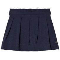 Petit Bateau Marine Blue Pleated Skirt Blue