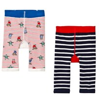 Joules 2 Pack Bear and Wolf Leggings Bear