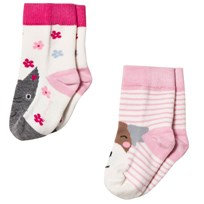 Joules 2 Pack of Cat and Dog Socks Cat