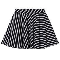 Papu Stripe Circle Skirt Black / Sand