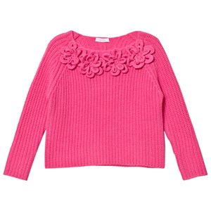 Image of Il Gufo Bright Pink Knitted Flower Sweater 12 years (2743732729)