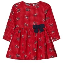Petit Bateau Dress Flowers Red Red