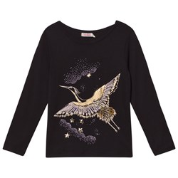 Billieblush Bird Embroidered Tröja Svart/Guld