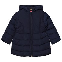 Billieblush Navy Puffer Jacket with Sequin Bow Detail 849