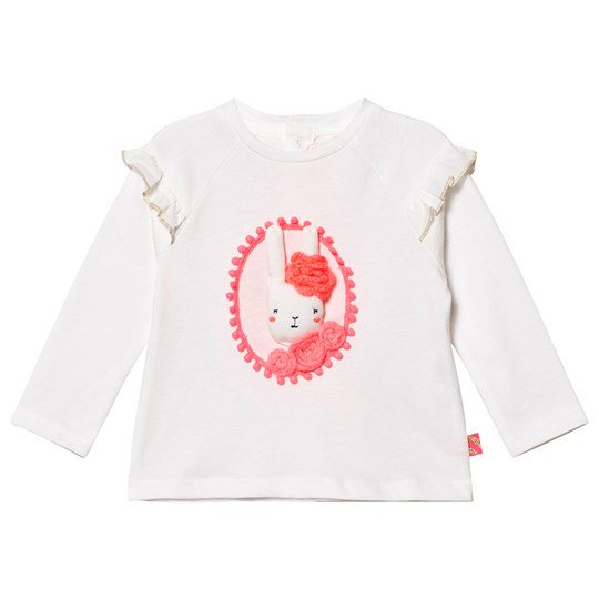 Billieblush White 3D Applique Bunny Tee 105