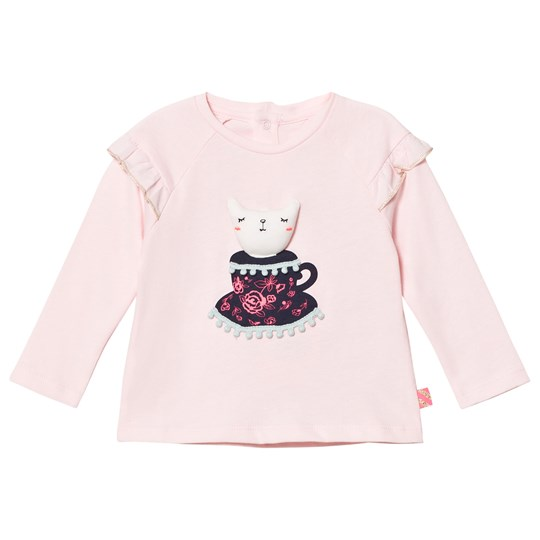 Billieblush Pale Pink Tee with 3D Applique Cat 46F