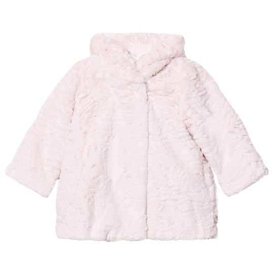 Billieblush Pale Pink Faux Fur Coat 46F