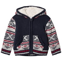 Absorba Blue Fairisle Knit Jacket with Teddy Lining 04