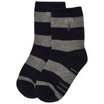 Ralph Lauren Navy and Grey Stripe Socks with PP 001