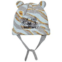 Kenzo Pale Blue Tiger Embroidered Beanie with Ears 22