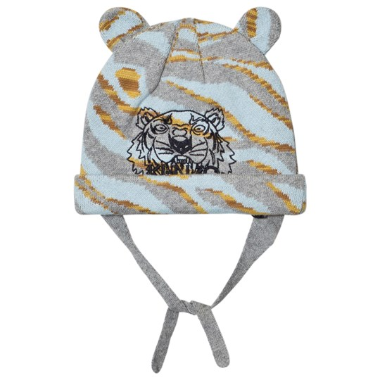 61a151805f5 Kenzo - Pale Blue Tiger Embroidered Beanie with Ears - Babyshop.com