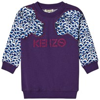 Kenzo Purple Cloud Tiger Sweater Dress 87