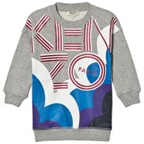 Kenzo Grey Marl Glitter Cloud Sweater Dress 20