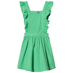 Margherita Kids Green Cord Pinnafore Dress