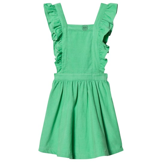 Margherita Kids Green Cord Pinnafore Dress Green