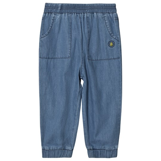 Margherita Kids Chambray Denim Track Pants Chambray