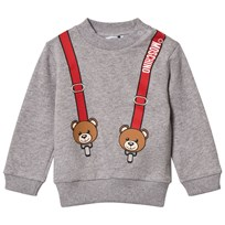 Moschino Kid-Teen Grey Bear and Braces Sweatshirt 60901