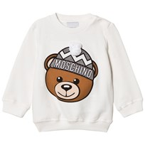 Moschino Kid-Teen Cream Winter Bear Pom Pom Applique Sweatshirt 10063