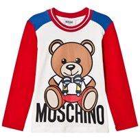 Moschino Kid-Teen Red Christmas Bear Print Tee 10063