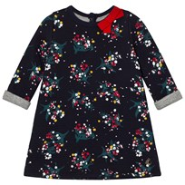 Petit Bateau Marine Flower Dress Blue