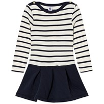 Petit Bateau Marine Stripe Dual Dress White
