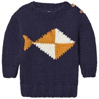 Bobo Choses Fish Intarsia Knitted Sweater FISH