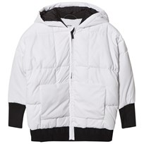 DKNY White Padded Parka with Branded Hood 10B