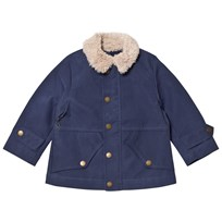 Stella McCartney Kids Blue Luke Jacket Teddy Collar 4760