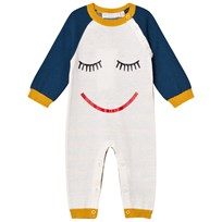 Stella McCartney Kids Cream Face Knit Tommy Footless Babygrow 9232