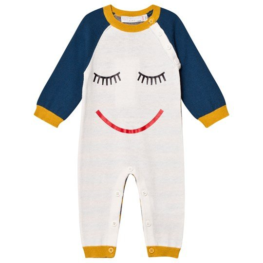 Stella McCartney Kids Face Tommy Stickad Bodysuit Cream 9232