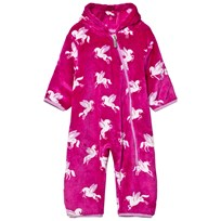 Hatley Pink Unicorn Fleece Onesie Pink