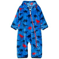 Hatley Blue Dino Print Fleece Onesie Blue