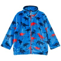 Hatley Blue Dinosaur Print Fleece Sweater Blue