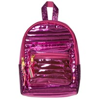 Le Big Pink Shiny Quilted Mini Backpack 490