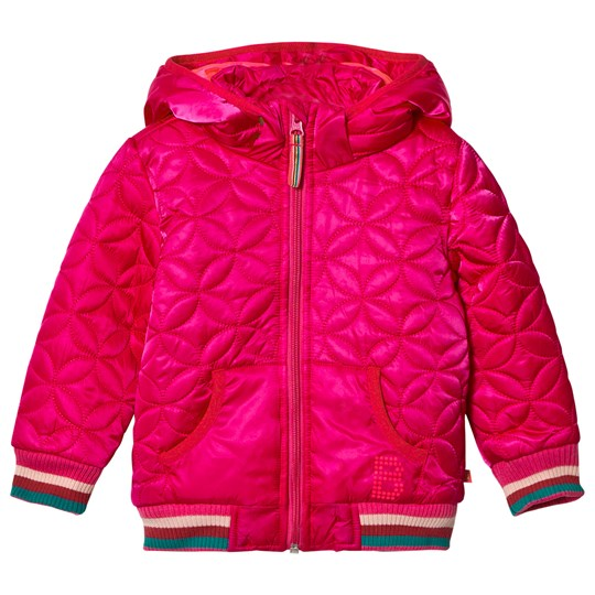 Le Big Pink Quilted Hooded Coat 490