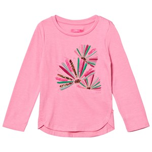 Image of Le Big Pink Melange Embroidered Long Sleeve Tee 86-92 (2 years) (2743778001)