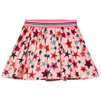 Le Big Pink Star Print Jersey Skirt 402