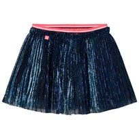 Le Big Navy Glitter Pleat Skirt 695