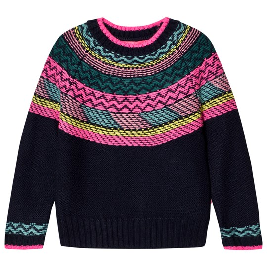 Le Big Navy and Multi Stripe Knit Jumper 695